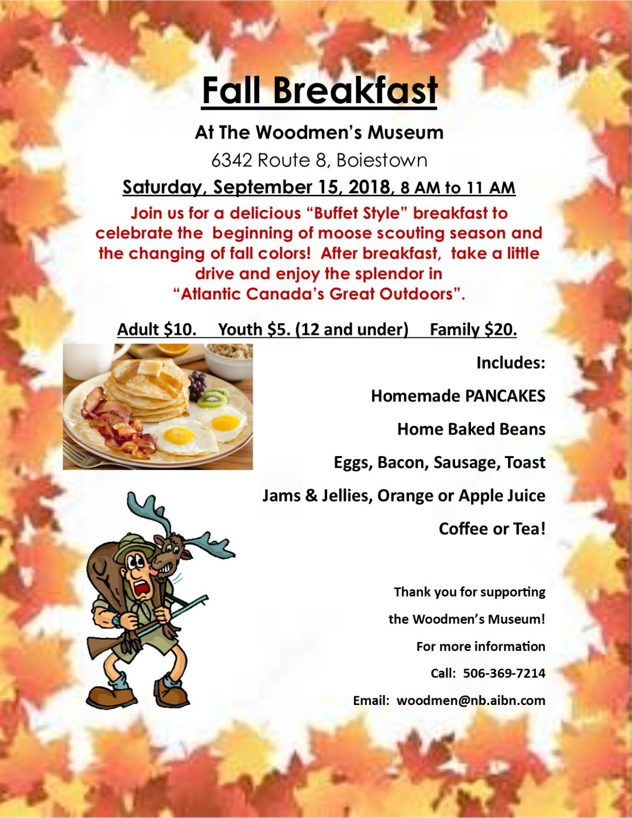 Fall Breakfast Poster 2018